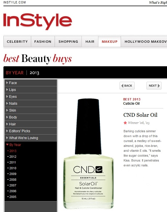 CND Solar Oil - InStyle Best Beauty Buy