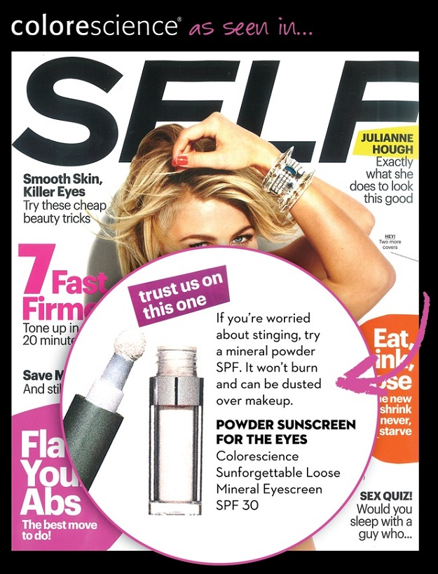 Colorescience Sunforgettable Eyescreen Featured is Self Magazine