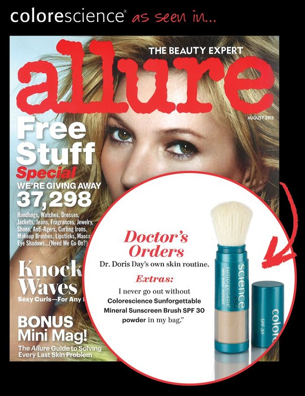 Colorescience Pro Sunforgettable SPF 30 Powder Brush Featured in Allure