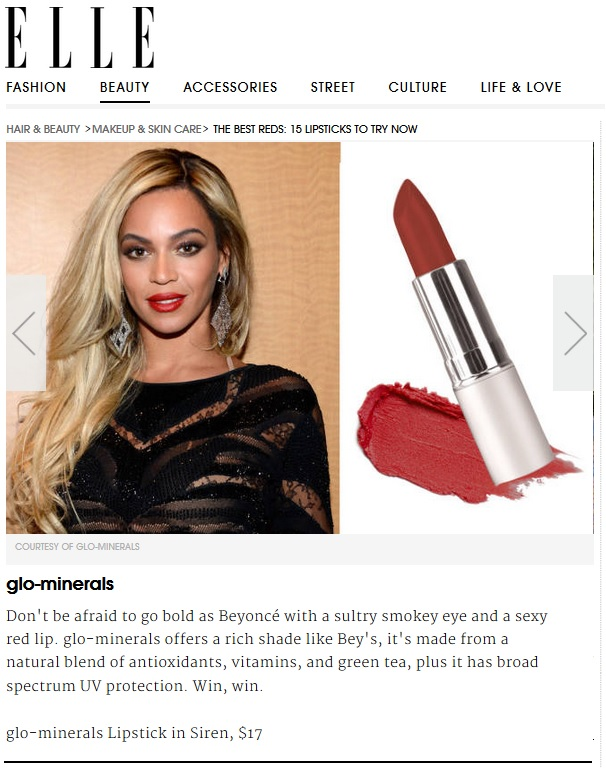 gloMinerals gloLip Stick - Siren Featured in Elle
