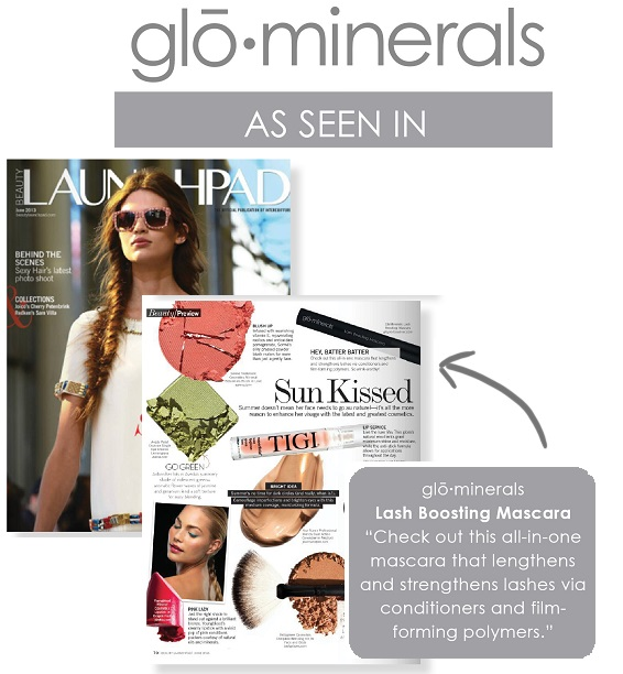 gloMinerals Lash Boosting Mascara Featured in Launchpad Magazine