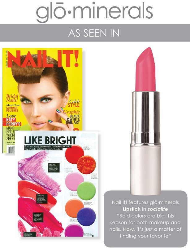 gloMinerals gloLipstick Socialite Featured in Nail It Magazine