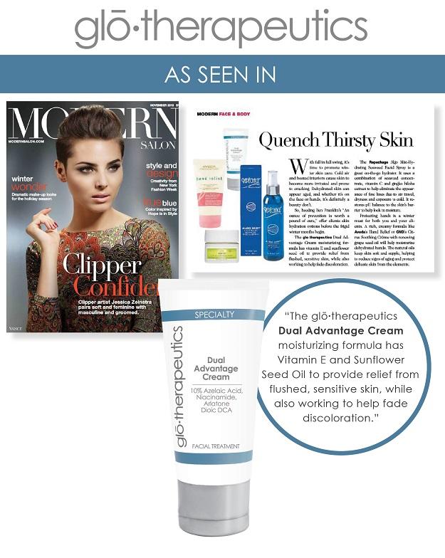 glotherapeutics Dual Advantage Cream Featured in Modern Salon Magazine