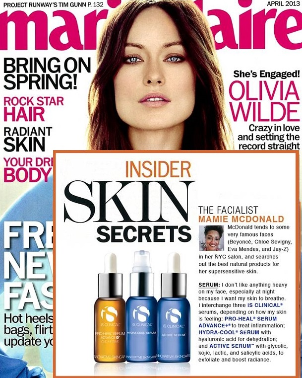 iS Clinical Pro Heal Serum Featured in Marie Claire Magazine