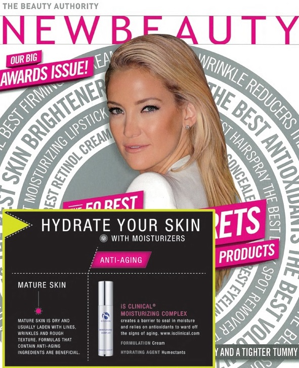 iS Clinical Moisturizing Complex Featured in New Beauty Magazine