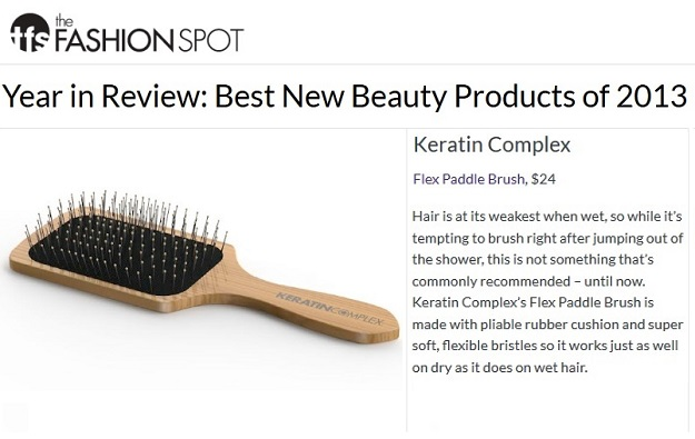 Keratin Complex Flex Paddle Brush featured on The Fashion Spot Best New Beauty 2013