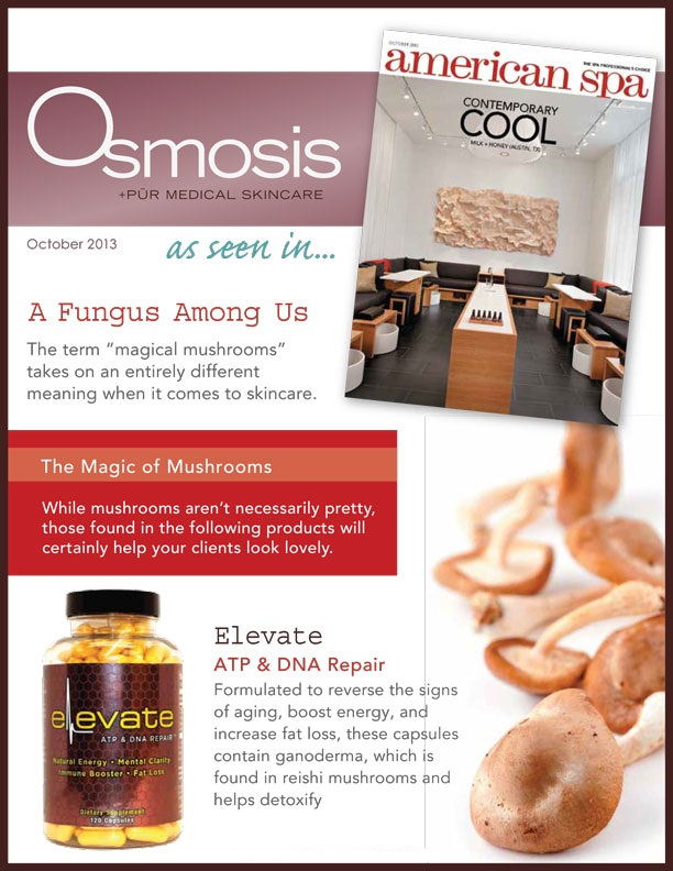 Osmosis Elevate in American Spa Magazine
