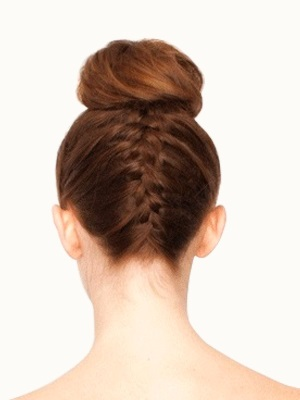 How To Upside Down French Braid Bun